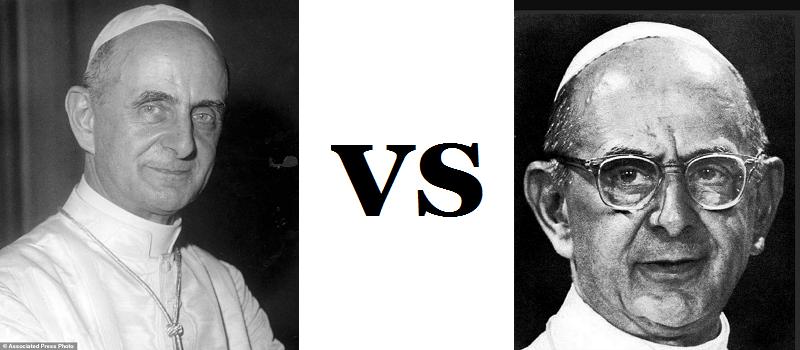 Pape Paul VI et son sosie imposteur